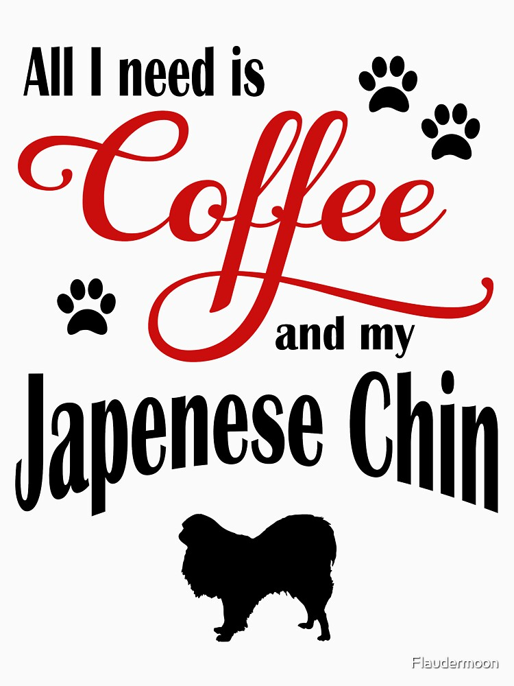 Coffee and my Japanese Chin by Flaudermoon