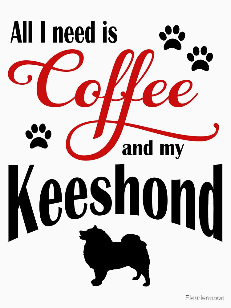 Coffee and my Keeshond by Flaudermoon