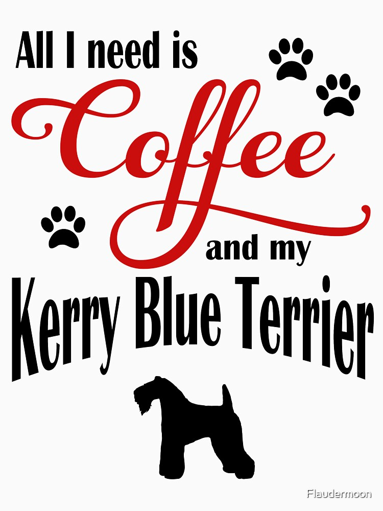 Coffee and my Kerry Blue Terrier by Flaudermoon