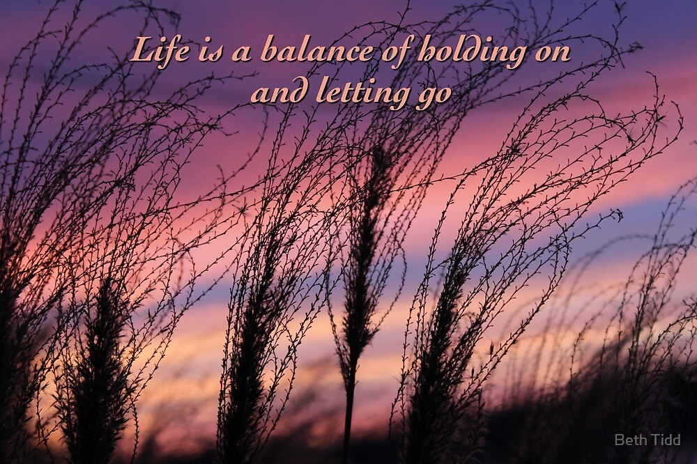Life is a  balance by Beth Tidd