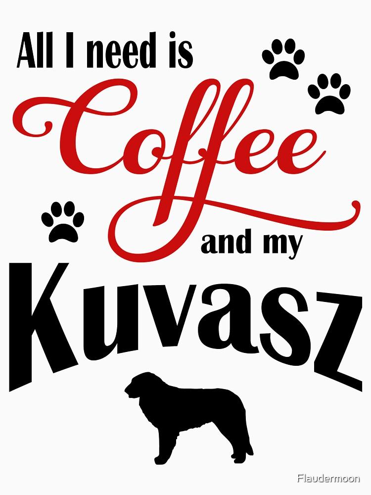 Coffee and my Kuvasz by Flaudermoon