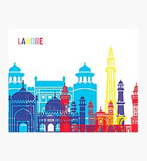 Lahore skyline pop  Photographic Print
