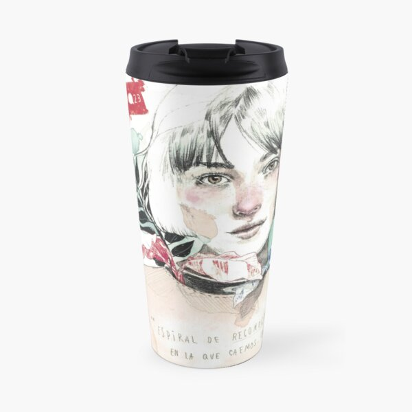 THE SPIRAL elenagarnu Travel Mug