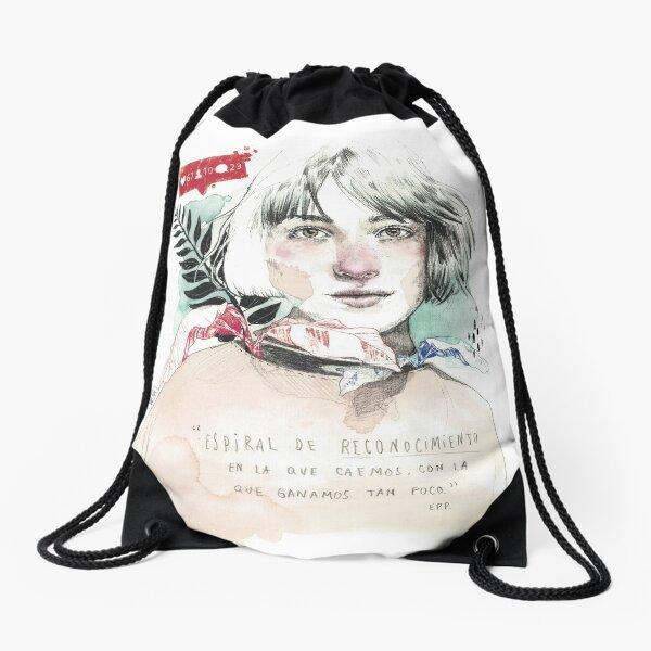 THE SPIRAL elenagarnu Drawstring Bag