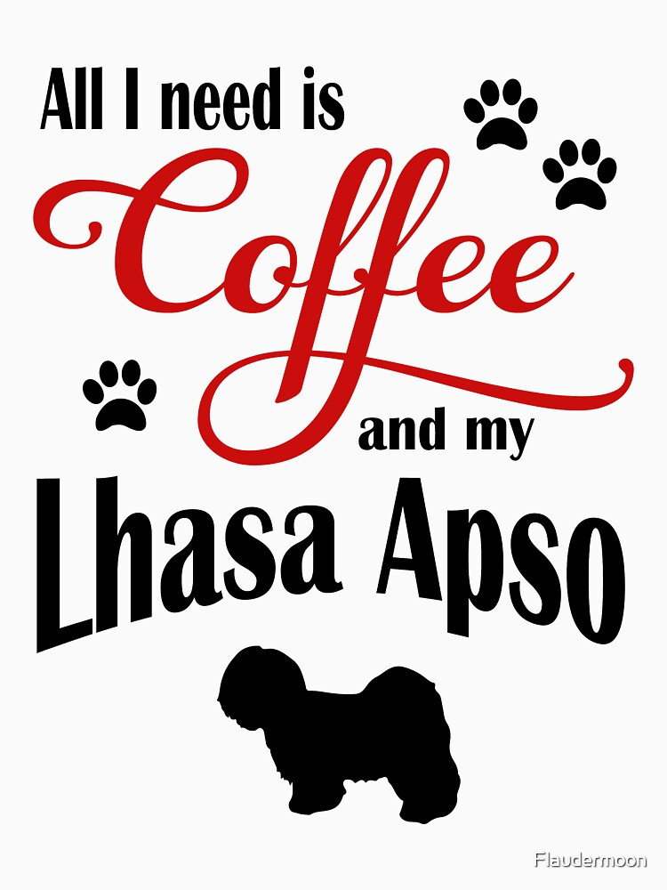 Coffee and my Lhasa Apso by Flaudermoon