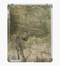 Marble surface. Green beige color iPad Case/Skin