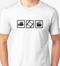 Film movie reel clapper camera T-Shirt