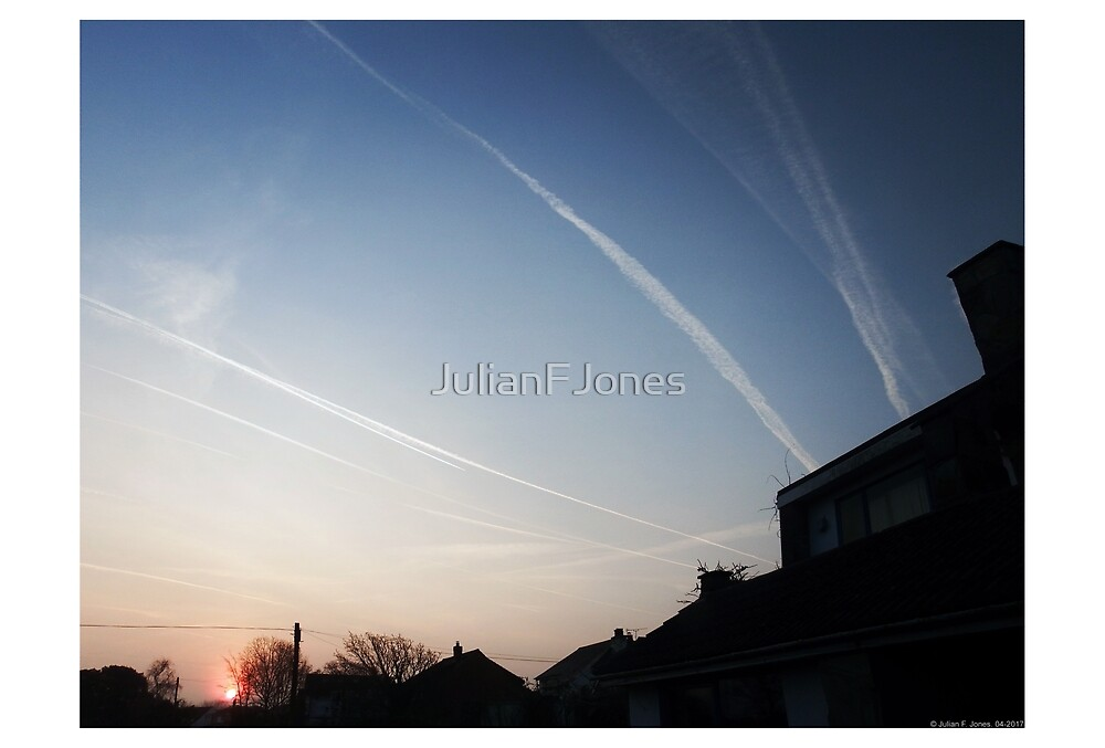 Vapour Trails South Hayling by JulianFJones