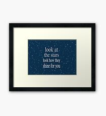 Coldplay Yellow Framed Print