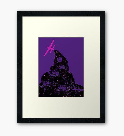 Night Flight Lovers Framed Print