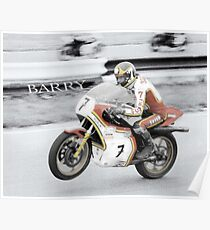 Barry Sheene 2, the hand tinted version Poster