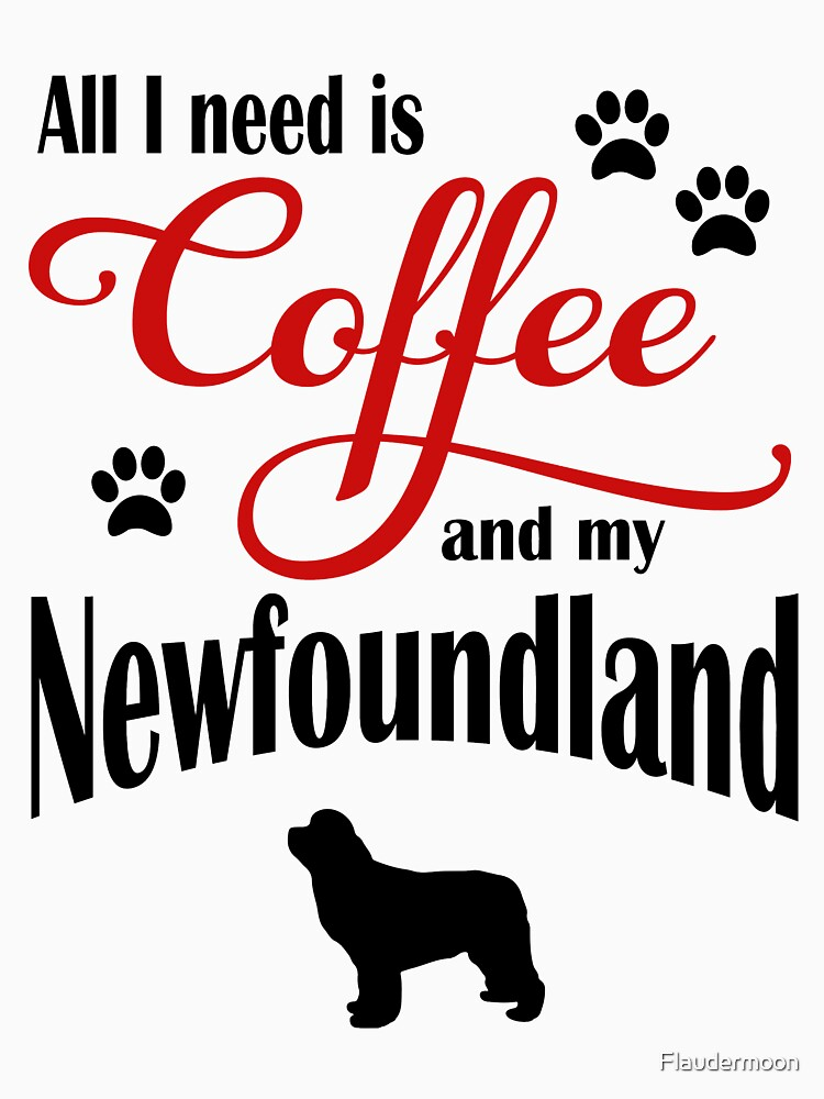 Coffee and my Newfoundland by Flaudermoon