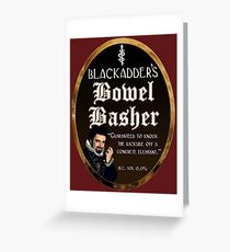 Blackadder's Bowel Basher Ale Greeting Card