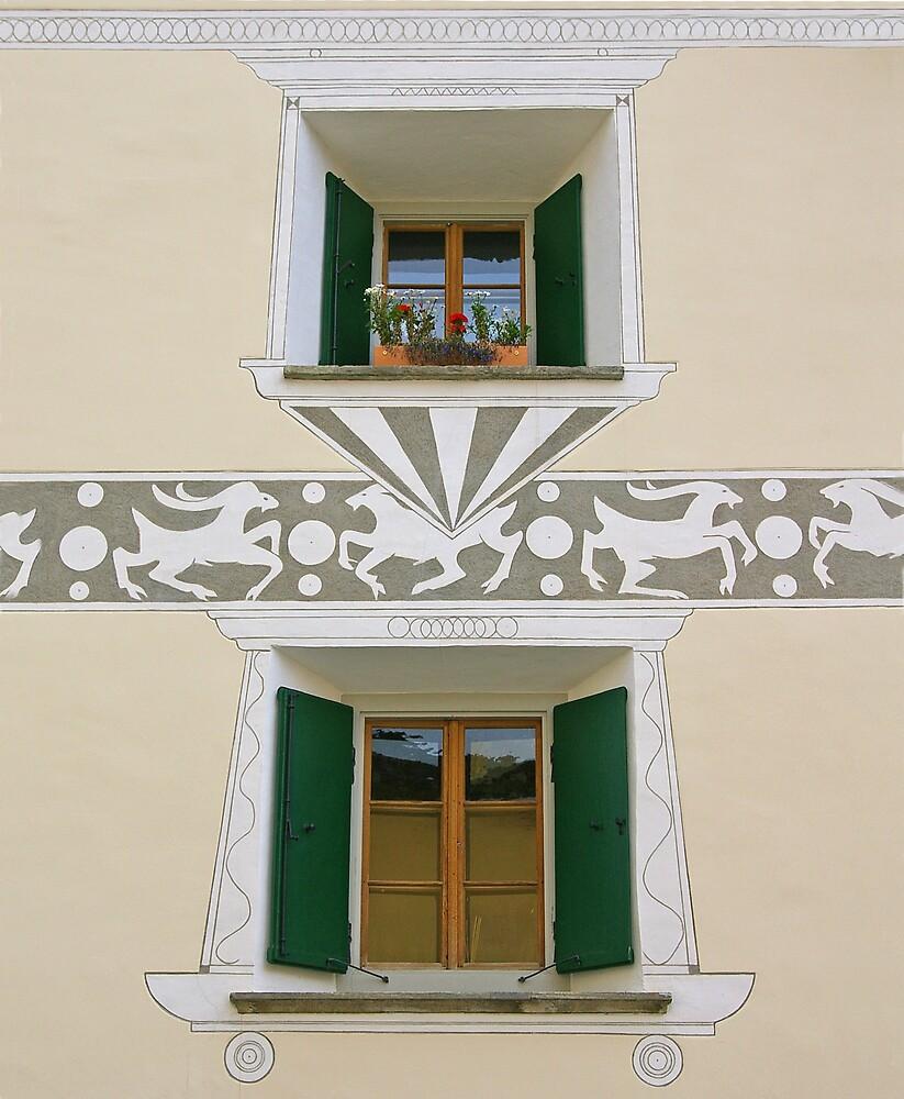 Pontresina Windows by Tom  Reynen