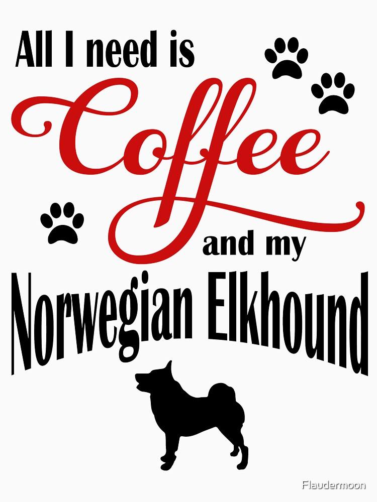 Coffee and my Norwegian Elkhound by Flaudermoon