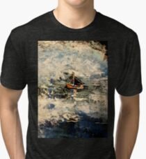 ship in stormy seas Tri-blend T-Shirt