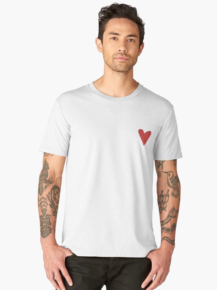 Red Heart Illustration Men's Premium T-Shirt Front
