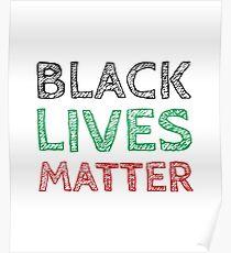 Black Lives Matter (Black, Green, Red) Poster