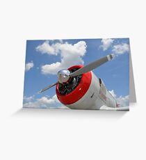 Close-up view of the propeller on a AT-6 Texan warbird. Greeting Card