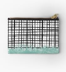 Mila - grid abstract painted brushstrokes stripe lines minimalist nursery decor Studio Pouch