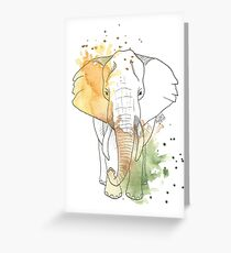 Elefant - Aquarell Greeting Card