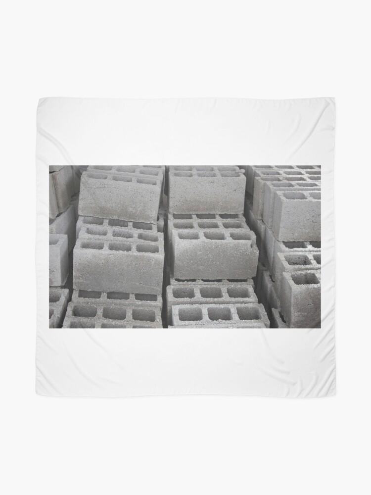 Alternative Ansicht von Betonblöcke auf einer Baustelle Tuch