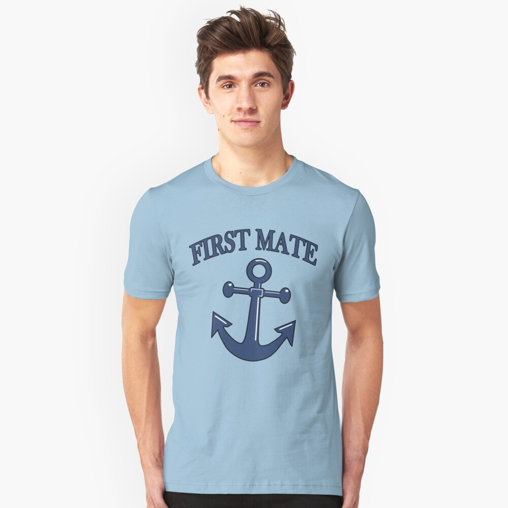 Nautical Boating First Mate Unisex T-Shirt Front