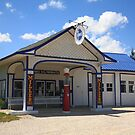 Route 66 - Odell Gas Station by Frank Romeo