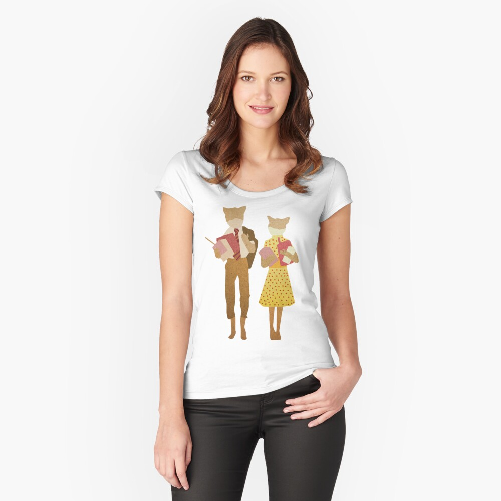 Fantastic Mr Fox  Fitted Scoop T-Shirt