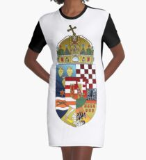 Hungarian Kingdom Graphic T-Shirt Dress