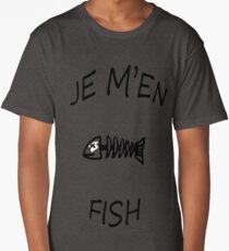 Je m'en fish (fiche) Long T-Shirt