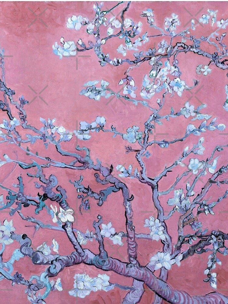"Van Gogh's ""Almond blossoms"" with pink background by ALD1"