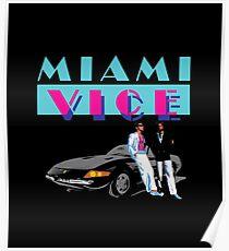 MIAMI VICE - RETRO 80s TV SERIES Poster