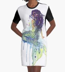 Mermaid Graphic T-Shirt Dress