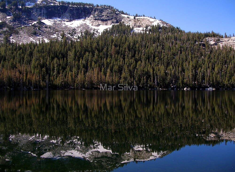 Tenaya Lake Reflections by Mar Silva