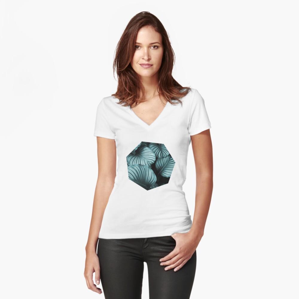 Leaf me alone 02 Shirt mit V-Ausschnitt
