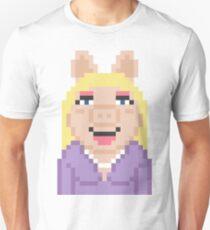 Miss Piggy The Muppets Pixel Character T-Shirt