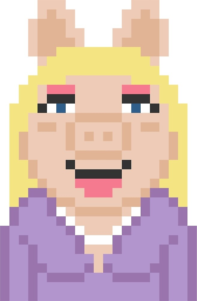 Miss Piggy The Muppets Pixel Character by Rebus 28