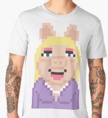 Miss Piggy The Muppets Pixel Character Men's Premium T-Shirt