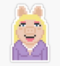 Miss Piggy The Muppets Pixel Character Sticker
