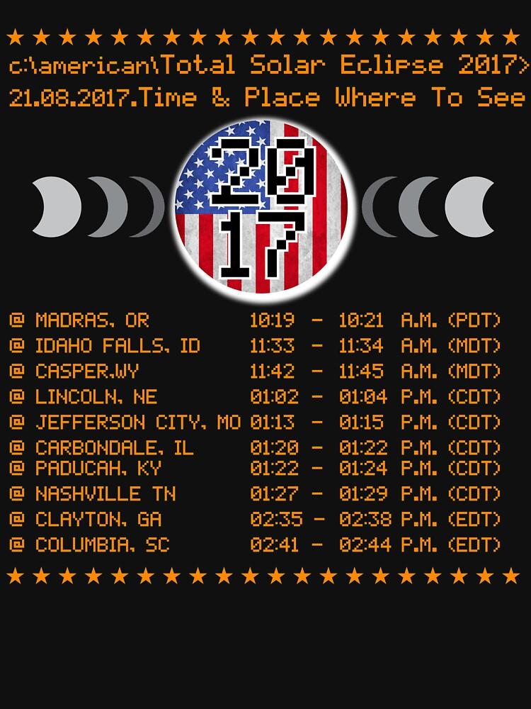 Run cmd for Total Solar Eclipse american Tshirt by bestdesign4u