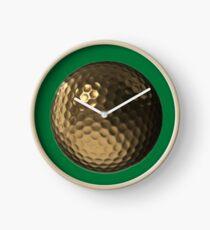 Golden Golf Ball Clock