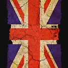 Ragged Britannia Union Jack Flag by Steve Crompton