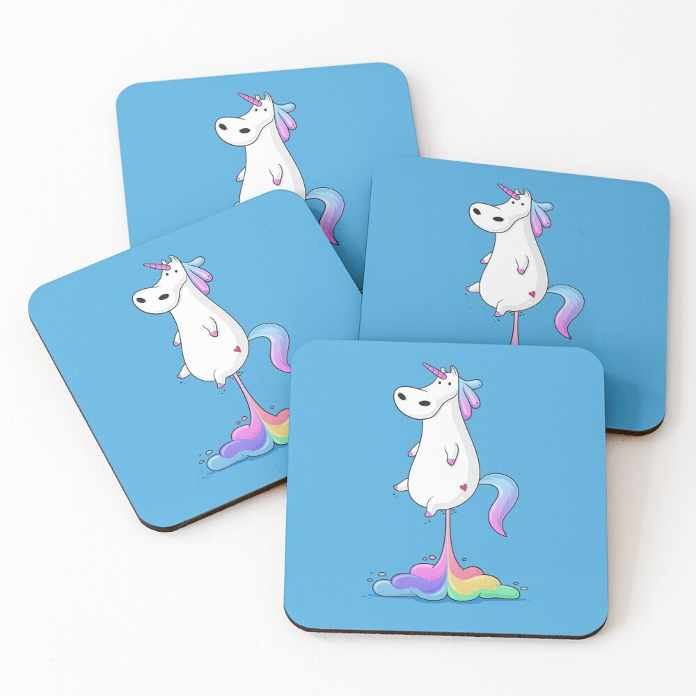 Unicorn Fart Coasters (Set of 4)