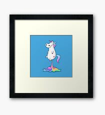 Unicorn Fart Framed Print