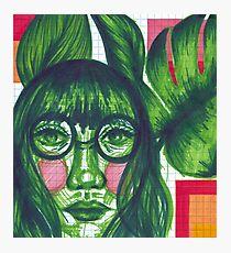 green girl Photographic Print