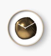 Golden Baseball Clock
