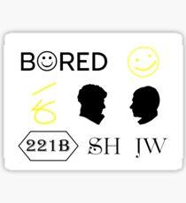 Sherlock stickers Sticker