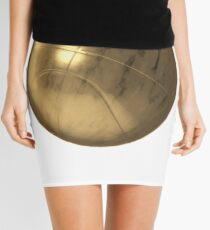 Golden Basketball Mini Skirt