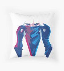 Atomic Assassin Throw Pillow